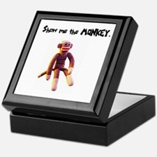 Sock Monkey Items Keepsake Box