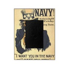 Americana  Recruiting Poster navy_ww Picture Frame