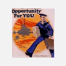 Americana Recruiting Poster WWI  WOn Throw Blanket