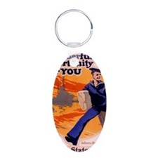 Americana Recruiting Poster Keychains