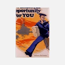 Americana Recruiting Poster WWI   Rectangle Magnet