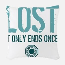 Ends Once Woven Throw Pillow