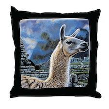 Andean Llama Throw Pillow