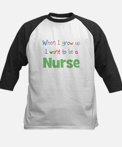 When I Grow Up Nurse Kids Baseball Jersey