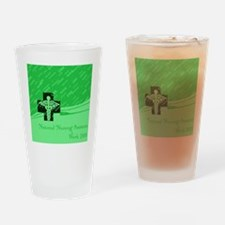 CNA Green Drinking Glass