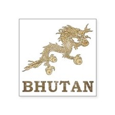 "vintageBhutan3 Square Sticker 3"" x 3"""