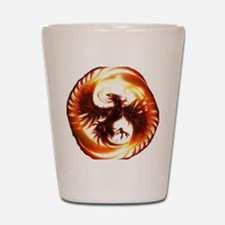 2-Phoenix spiral Shot Glass