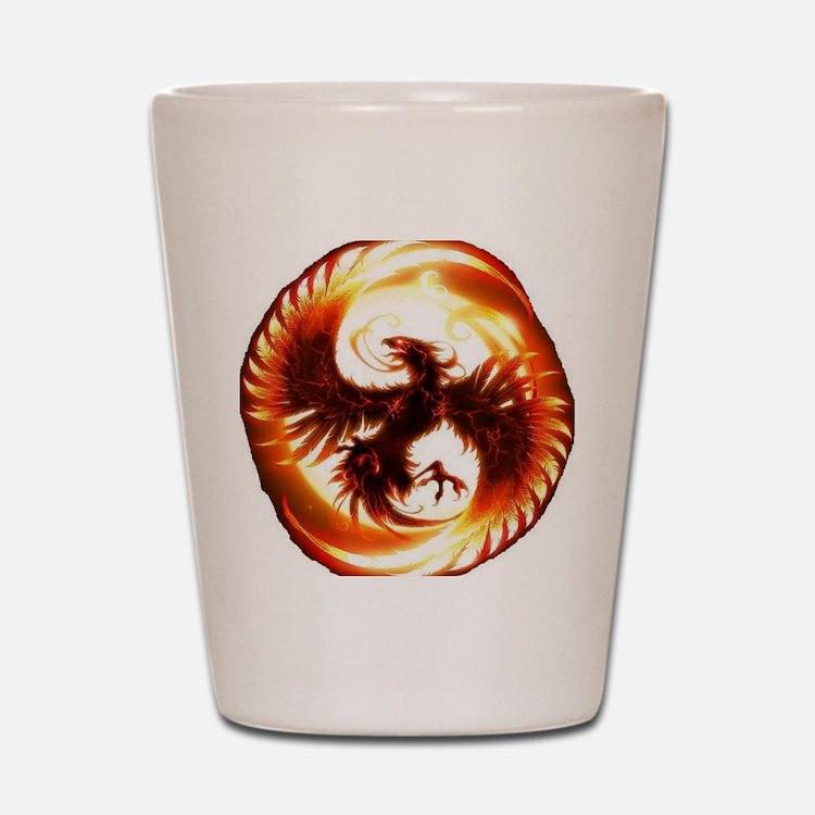 2-Phoenix spiral Shot Glass