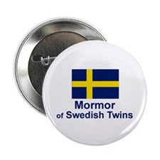 "Mormor of Swedish Twins 2.25"" Button"