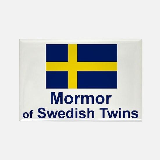 Mormor of Swedish Twins Rectangle Magnet