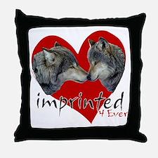 wolf-imprinted Throw Pillow