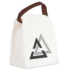 valknut-white Canvas Lunch Bag