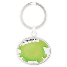 snugglesaurus Oval Keychain