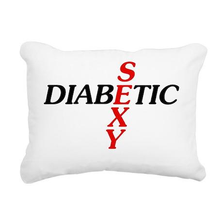 Sexy Diabetic Rectangular Canvas Pillow