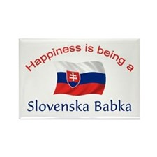 Happy Slovenska Babka Rectangle Magnet