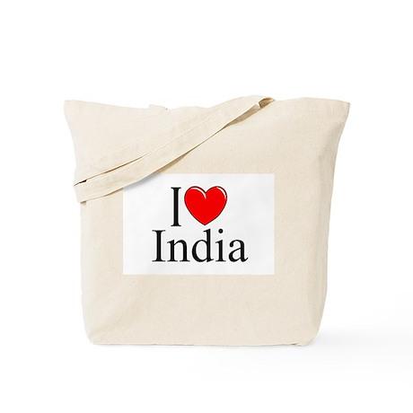 """""""I Love India"""" Tote Bag"""