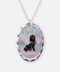 Heavenly Sea-Newfoundland Necklace Oval Charm