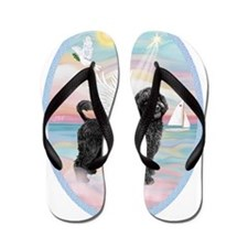 Heavenly Sea-Portuguese Water Dog #8 (2 Flip Flops