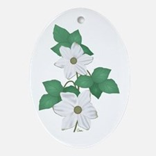 Dogwood Blossoms Ornament (Oval)