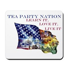 patriot flagcleantexthuge2 Mousepad