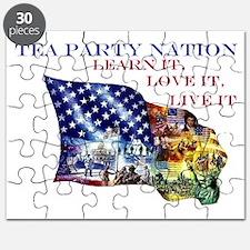 patriot flagcleantexthuge2 Puzzle