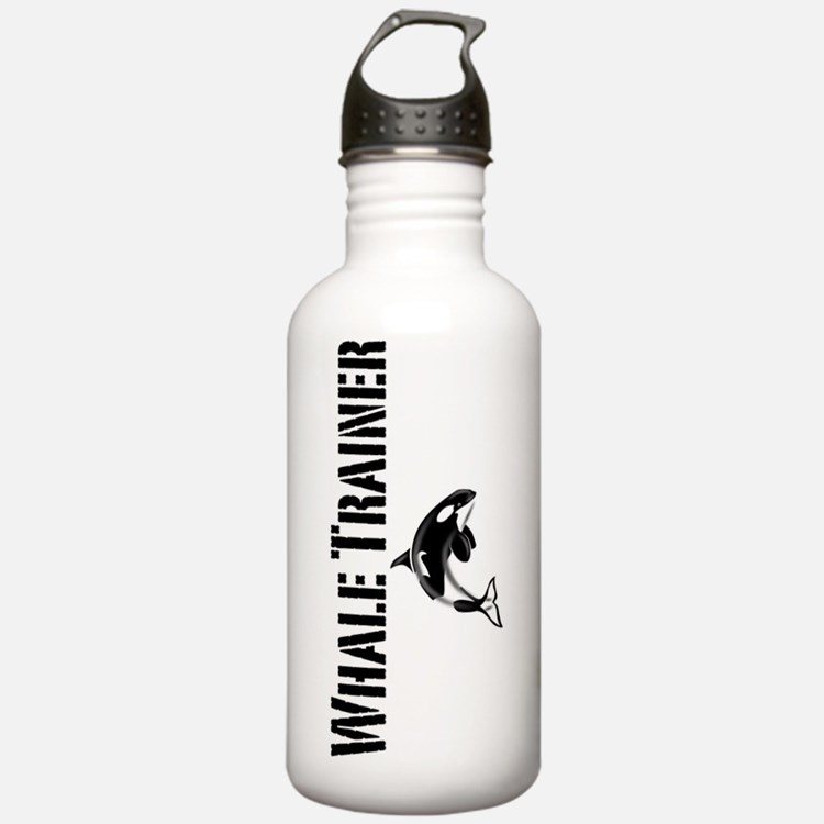 Whale Trainer white co Sports Water Bottle