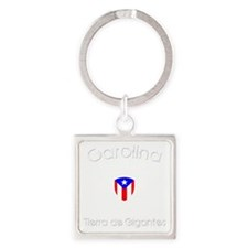 Carolina B Square Keychain