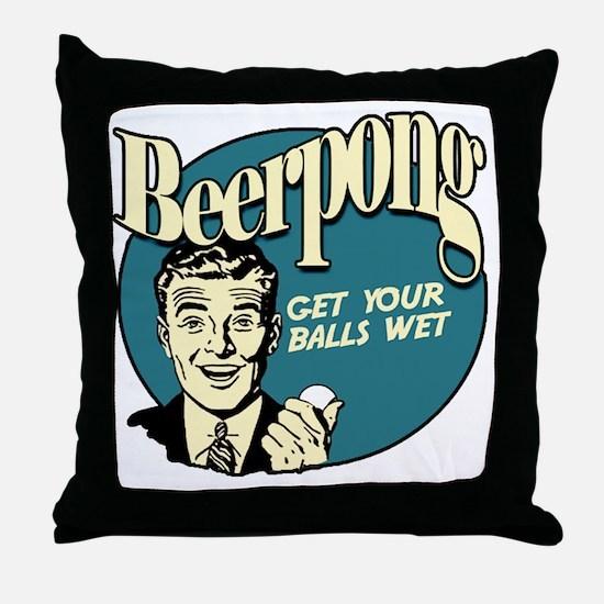 Beer_Pong-01 Throw Pillow