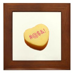 Curse Word Symbols on a Candy Heart Framed Tile