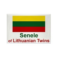 Lithuanian Twins-Senele Rectangle Magnet