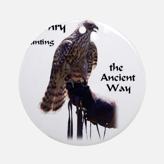 faconry ancient way Round Ornament