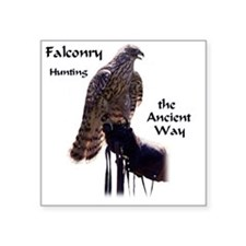 "faconry ancient way Square Sticker 3"" x 3"""