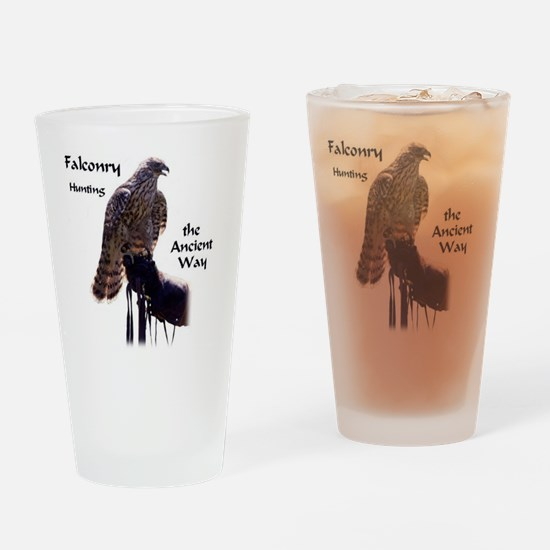 faconry ancient way Drinking Glass