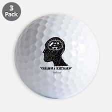 skateboarder brain Golf Ball