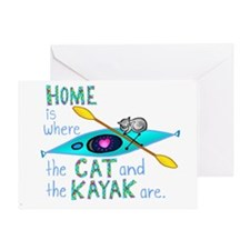 homekayakcat4dark Greeting Card
