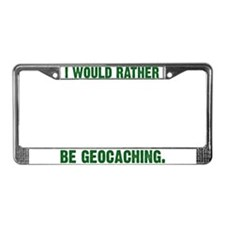 Unique Geocache tupperware License Plate Frame