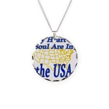 My Heart  Soul Are In the US Necklace