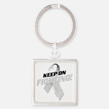 Keep on Fighting Diabetes Square Keychain