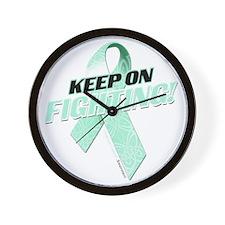 Keep on Fighting Ovarian Cancer Wall Clock