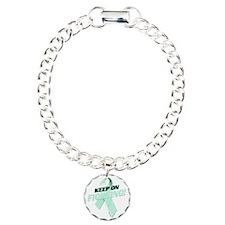 Keep on Fighting Ovarian Charm Bracelet, One Charm