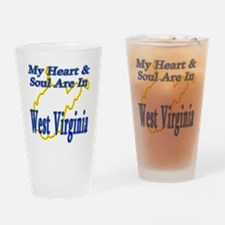 My Heart  Soul Are In West Virginia Drinking Glass