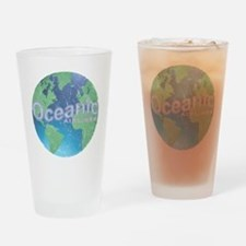 Oceanic Airline Weathered Drinking Glass