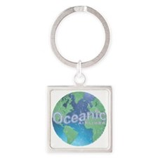 Oceanic Airline Weathered Square Keychain