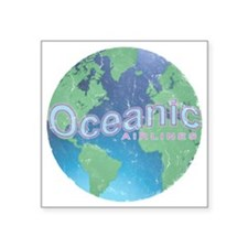 """Oceanic Airline Weathered Square Sticker 3"""" x 3"""""""