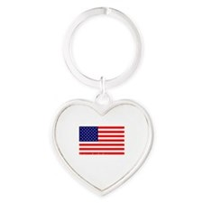 American-Tea-Party-(flag)-dark-shir Heart Keychain