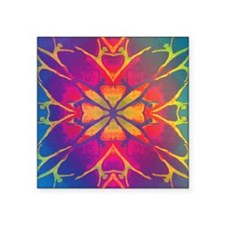"dancer rainbow3 tshirt4 Square Sticker 3"" x 3"""