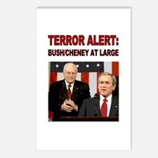 Postcards (8pk)- Terror Alert  Bush Still at Large