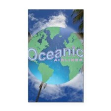Oceanic Airlines Mini Poster Rectangle Car Magnet