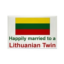Lithuanian Twins (Married To) Rectangle Magnet