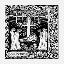 Four Queens Find Lancelot Tile Coaster